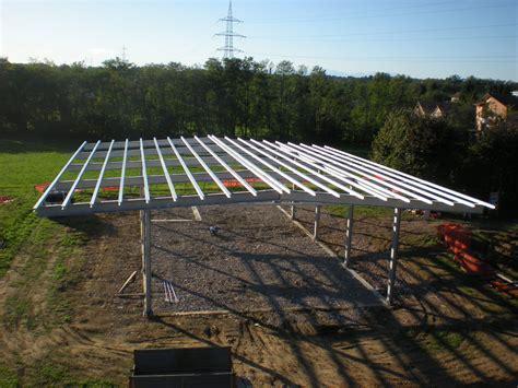 tettoie esterne realizziamo strutture in ferro zincato o acciaio inox per