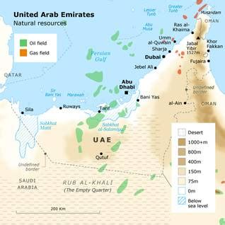 dubai geography map geography of united arab emirates