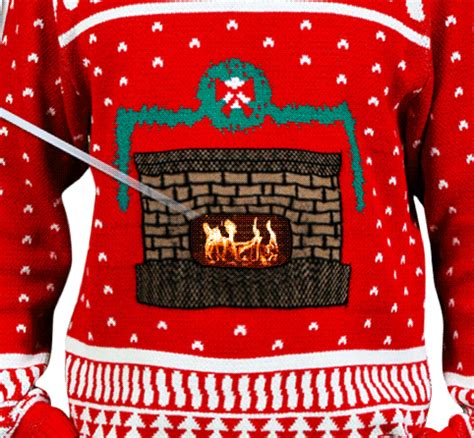 Sweater With Fireplace by Sweater Uses Your Smart Phone To Display An