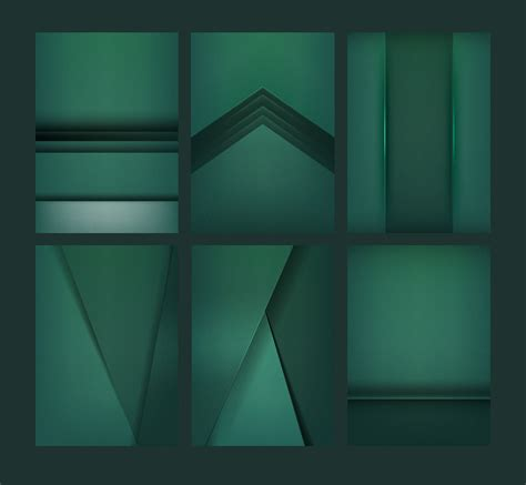 set  abstract background designs  emerald green