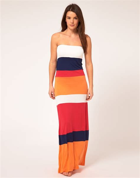 color block maxi dress river island color block bandeau jersey maxi dress