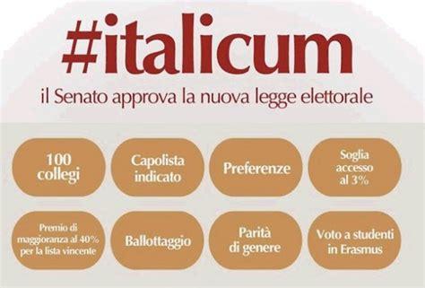 ufficio sta senato italicum il senato approva la nuova legge elettorale