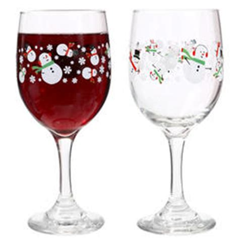 Dollar Wine Glasses Snowmen Decorative Wine Glass Of 12 At Dollar Tree