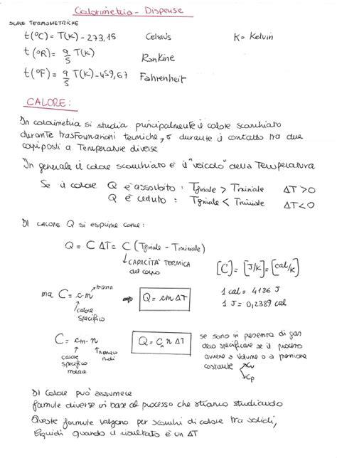 fisica matematica dispense fisica 1 calorimetria dispensa la matepratica