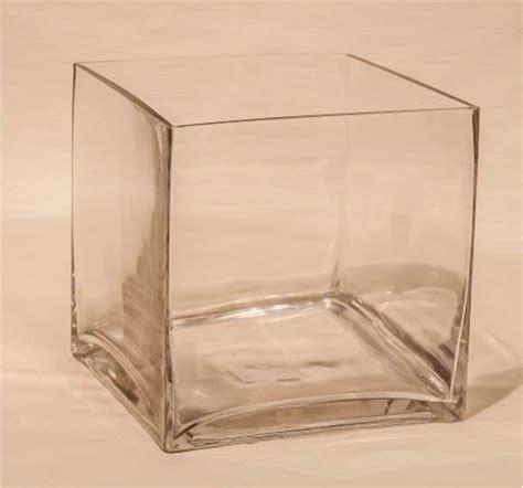 vasi vetro quadrati noleggio vaso in vetro quadrato 12x12h 12cm