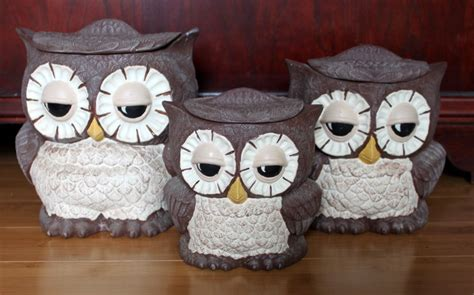 owl kitchen canisters best friends owl canisters set of 3
