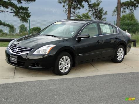 nissan altima black 2010 super black 2010 nissan altima hybrid exterior photo