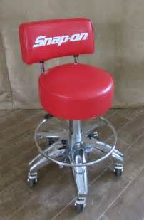 snap on rolling stool back chair tools shop cave
