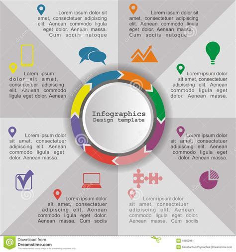 infographic element layout circle infographic timeline element layout vector stock