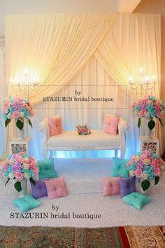 Sofa Warna Pink mini pelamin tirai pelamin tunang pakej perkahwinan busana pengantin buaian berendoi warna