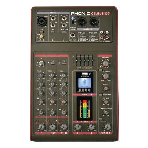 table de mixage enregistreur phonic celeus 100 analog mixer with usb recorder and