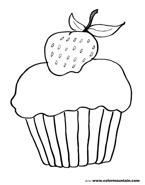 cake with a delicious strawberry coloring book pages drawn cupcake strawberry cake pencil and in color drawn