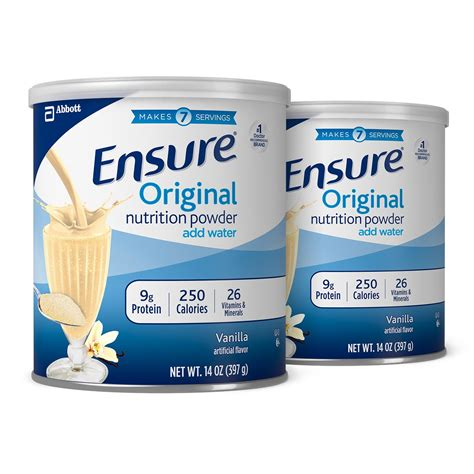 Pediasure Complete 400gram Rasa Vanila ensure original nutrition powder with 9g of protein per serving vanilla 14 ounces
