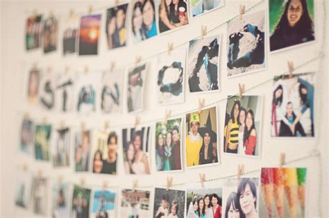 Creative Ways To Hang Pictures Without Frames creative wall displays get those photos off your hard drive