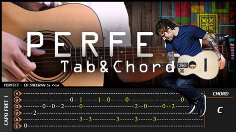 fingerstyle cover tutorial ed sheeran perfect cover fingerstyle cover tab