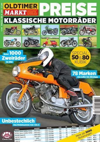 Motorrad Zeitschrift Preis by Sonderheft 9 Motorrad Spezial Preise F 252 R Klassische