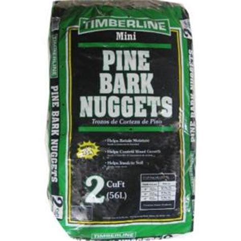 timberline  cu ft mini pine bark nuggets