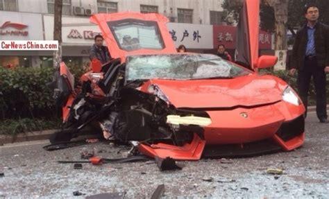 Another Lamborghini Aventador LP700 4 crash lands at the