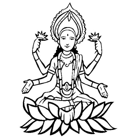 Goddess Laxmi Free Coloring Pages Hinduism Coloring Pages