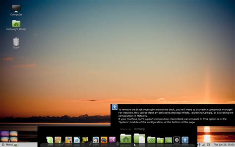 menghilangkan wallpaper hitam windows 7 menghilangkan background hitam cairo dock linux mint