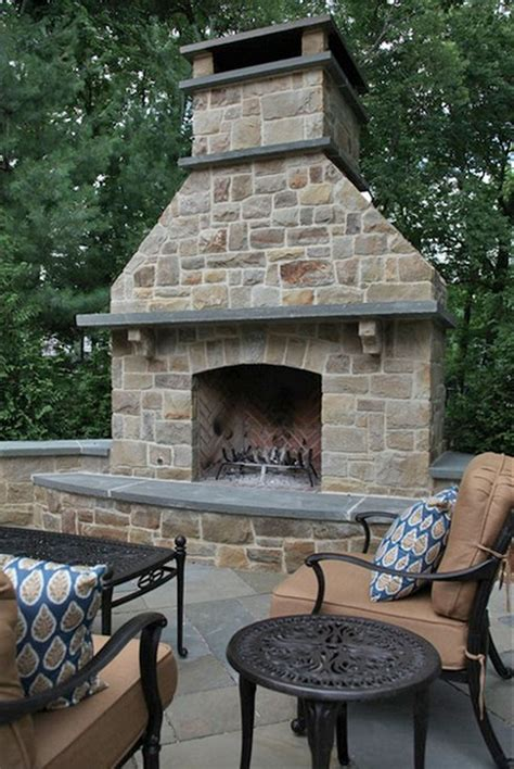 material equipped for the outdoor fireplace ideas the