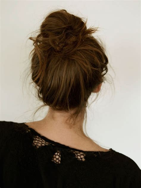 updo for thick neck messy french bun a cup of jo