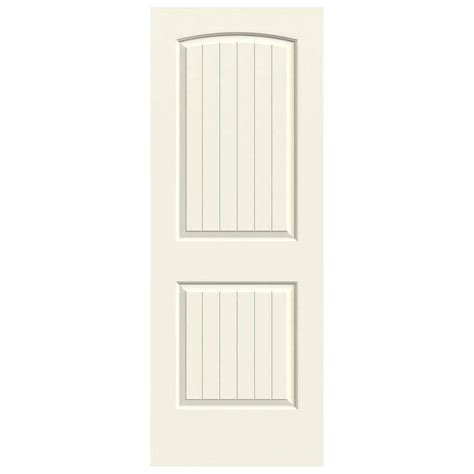 jeld wen 30 0 in x 80 in smooth 2 panel solid core jeld wen 30 in x 80 in molded smooth 2 panel arch plank