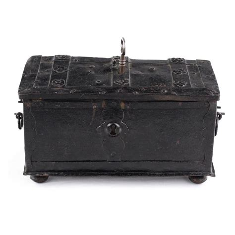 Exclusive Celengan Post Box Mail Coin Box metal cassette box casquet 17th century concealed lock and coin slots for sale at 1stdibs