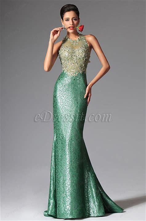 Edressit Green Halter Mermaid Evening Dress Prom Ball Gown   edressit green halter mermaid evening dress prom ball gown