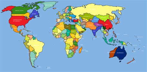 World Map Of Countries by World Map Free Large Images