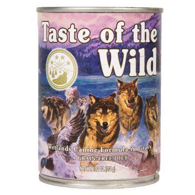 taste of the food ingredients taste of the wetlands canine great deals at zooplus