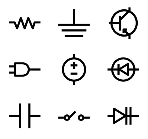 linear electronic circuits circuit icons 194 free vector icons