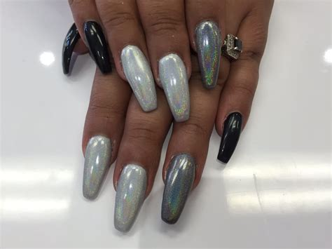 Nail Designs In Black And Silver