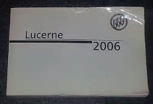 2006 Buick Lucerne Manual 2006 Buick Lucerne Owners Manual For Sale Carmanuals
