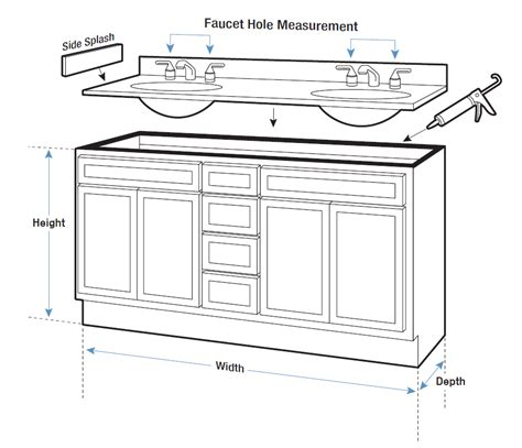 bathroom counter dimensions vanity tops buying guide hayneedle com