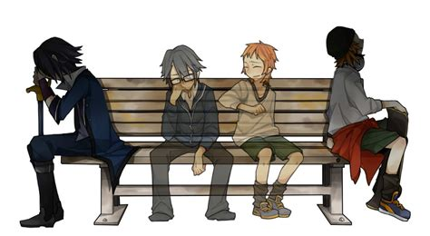 bench manga anime sitting on bench www pixshark com images