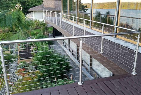 Stainless Steel Deck Railing Wa Modern Stainless Steel Cable And Glass Railing