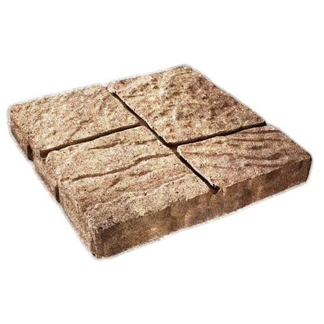 lowes patio bricks shop cassay sand four cobble patio common 16 in x 16 in actual 15 7 in h x 15 7 in