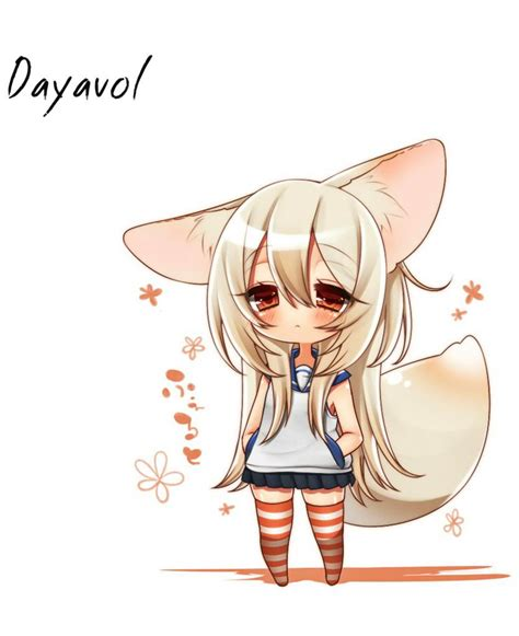 chibi anime simple background anime inumimi white