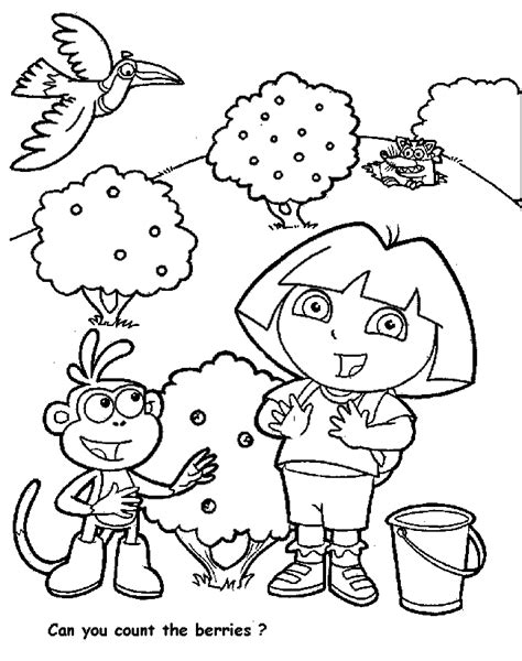 dora and buji coloring page cartoons coloring pages october 2011