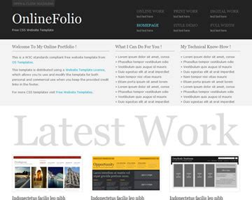 onlinefolio website template free website templates os