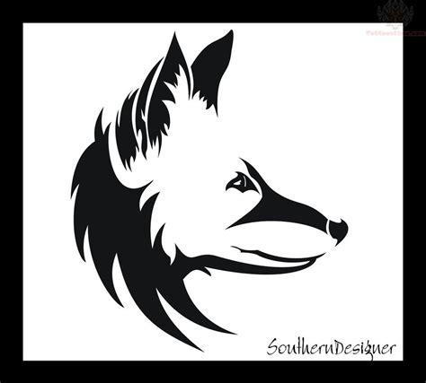 fox head tattoo fox design