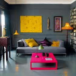 Gray Living Room With Pop Of Color Grey Living Room 17 Designs
