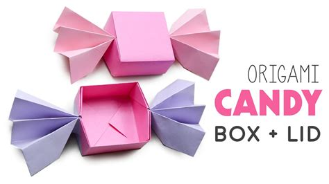 Sweet Origami - origami box lid diy
