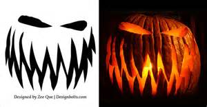 10 free scary cool pumpkin carving stencils 10 free printable scary pumpkin carving patterns