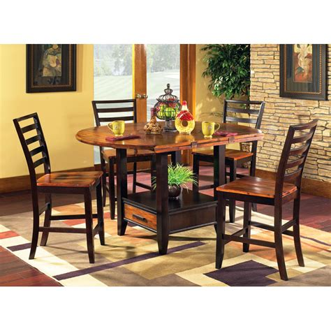 pub table with four chairs abaco drop leaf pub table with four counter chairs dcg