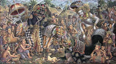 Lukisan Bali Jayaprana Layonsari Lukisan Suasana Upacara Bingkaibali