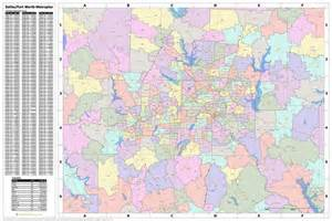dallas zip code map free search the maptechnica printable map catalog maptechnica