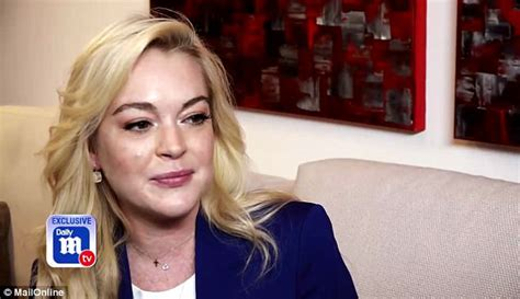 Miller Lindsay Lohan by Lindsay Lohan Talks To Dailymailtv About Being Happy