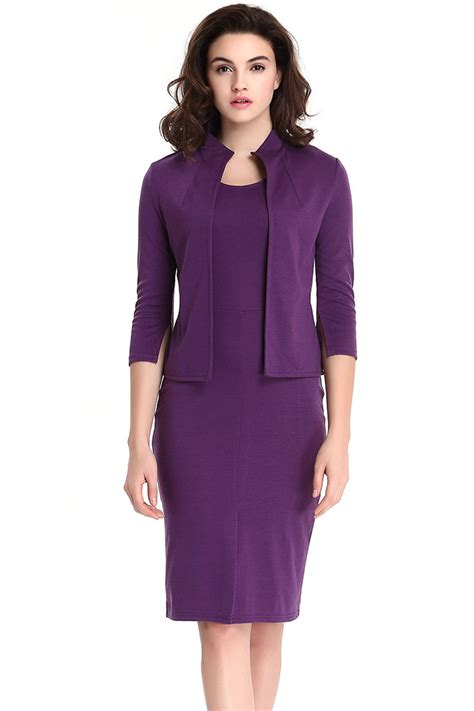 Bodycon Dress Winter unomatch s two winter warm bodycon dress with jacket dress purple unomatch shop